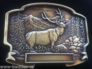 HUNTING BIG GAME SPORTS ELK MOOSE BUCKLES BOUCLE DE CEINTURE BELTS