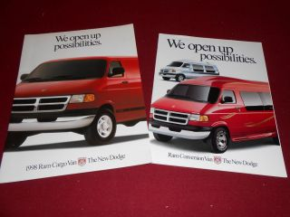 Different 1998 DODGE RAM VAN and CONVERSION RAM VAN BROCHURES, SALES