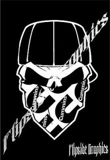 CUSTOM SKULL DODGE CUMMINS CAR TRUCK RV WINDOWS STICKER DECAL 10