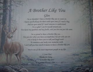 BROTHER LIKE YOU PERSONALIZED POEM BIRTHDAY OR CHRISTMAS GIFT IDEA