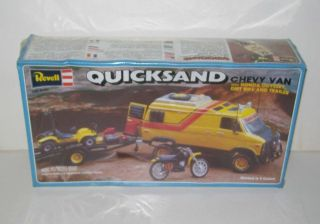Quicksand Chevy Van Honda Odyssey Dirt Bike & Trailer SEALED NOS