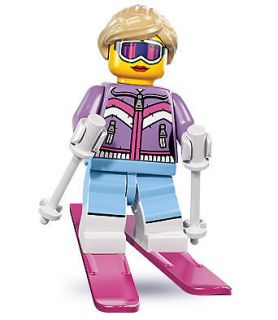 Newly listed LEGO Downhill Skier woman lady pink 8831 Series 8