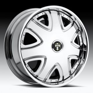 22 DUB SPIN Bandito Chrome WHEEL SET 22x8.5 Spinners RWD 5 & 6 LUG