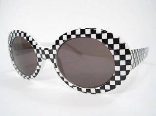 Nirvana Sunglasses Kurt COBAIN MOD PUNK White Checkered