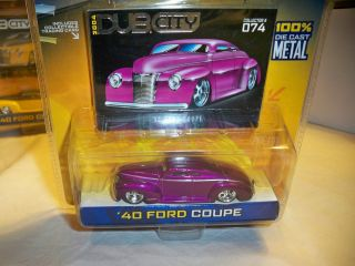 JADA 1/64 DUB CITY PURPLE 1940 FORD COUPE NEW IN PACK MIP NIP