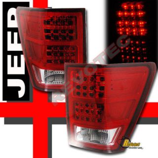 05 06 JEEP GRAND CHEROKEE LAREDO SRT8 LED TAIL LIGHTS RED 1 PAIR