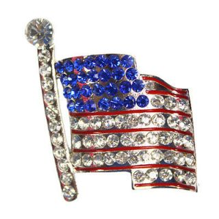 Newly listed New Popular American Flag Brooch Pin Alloy & Silver