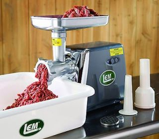 LEM Electric Meat Grinder #8 Countertop Unit 575 Watts,1113
