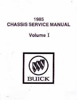 1985 Buick Grand National Regal Shop Service Repair Manual Engine