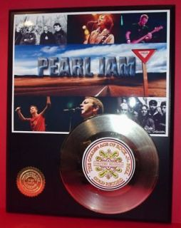 PEARL JAM 24k Gold Record Grunge Rock Gift Limited Edition