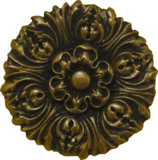 Ornament Accent Rosette SF203109 Antq Gold Brass Copper Silver