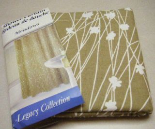 Newly listed LOVELY TOILE VINES MEADOWS SHOWER CURTAIN WHITE & TAN