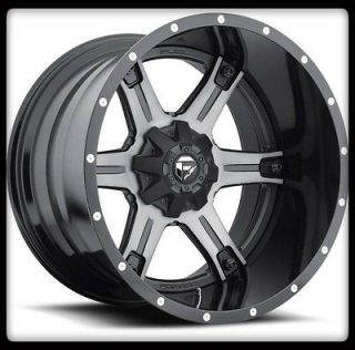 MHT FUEL OFF ROAD D257 DRILLER 2PC 6X5.5 ESCALADE BLACK WHEELS RIMS