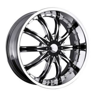 24 inch VCT Abruzzi chrome wheel rim 6x5.5 I 370 Rodeo Trooper Sedona