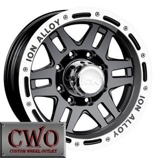 16 Black ION 133 Wheels Rims 8x165.1 8 GMC Chevy 2500 HD Dodge Ram
