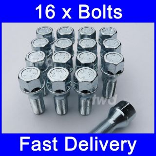 ALLOY WHEEL LOCK BOLTS FOR VOLVO S60 (2000   2006) LOCKING LUG NUTS