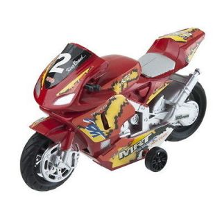 Red Hot Wheels Motorcycle Motor with Drivers racing Toy For Kids Size