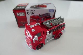 Tomy Tomica Disney Pixar Car C 07 Red Firetruck Metal Toy Car New