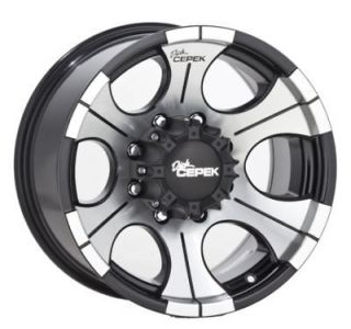 17x9 DICK CEPEK DC 2 BLACK WHEEL 6x5.5 6 LUG GM CHEVY 1/2 TON 17