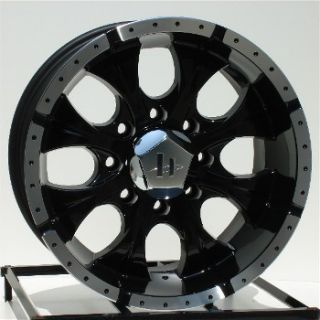 16 inch Black Wheels Rims Chevy GMC 2500 3500 HD Dodge Ram 8x6 5 Lug