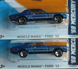 COUGAR Ford   Blue * 2012 Hot Wheels * 5 spoke 5sp Error Variation