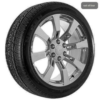 24 inch GMC truck 2009 Yukon Denali Sierra chrome wheels rims and
