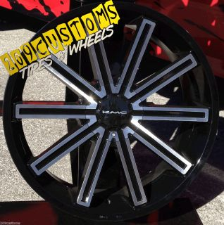 Wheels Tires Rims 5x115 KMC Rebel Dodge Charger 2007 2008 2009