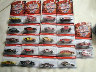 Hot Wheels 2009 Fire Rods Lot of 22 Almost Complete Super RARE