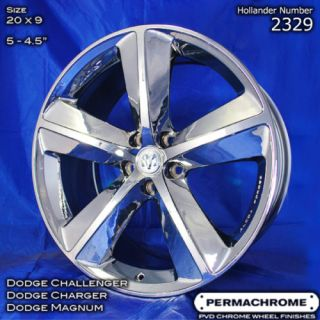 Dodge Charger SRT8 20 PVD Chrome Wheels Outright