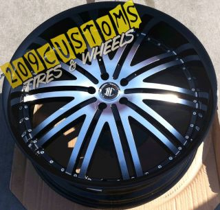 2CRAVE 11 Wheels Tires Rims Black 5x115 Dodge Charger 2007