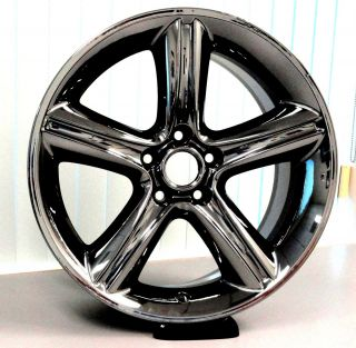 Ford Mustang 2010 2012 19 x 8 5 Black Chrome PVD Wheels Rims