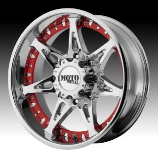20 inch 20x10 Moto Metal Chrome Wheels Rims 5x5 5 5x139 7 24 Dodge RAM