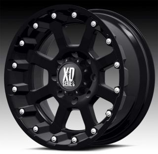 18 inch 18x10 KMC XD Black Wheels Rims 5x5 5x127 2007 Jeep Wrangler