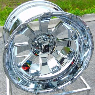 22x14 Chrome KMC XD Armour Wheels Rims Chevy Silverado Sierra 1500