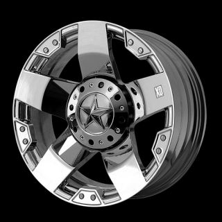 20 x 10 KMC XD 775 Chrome Rockstar Rims Tires Federal Couragia MT 35