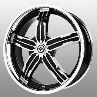 18 inch Black Ice Sigma Chrome Wheels Rims 5x4 5 Flex Five Hundred