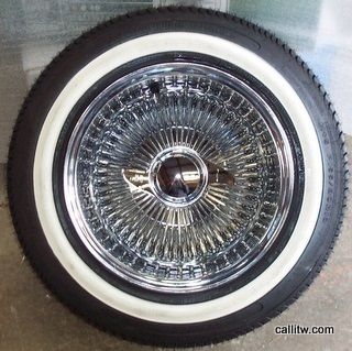 14 100 Spoke All Chrome Wire Wheels 14X7 Deepdish Tire Package