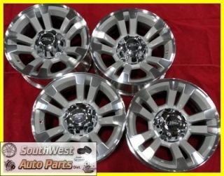 10 11 FORD RANGER 16 MACHINED SILVER TAKE OFF WHEELS OEM RIMS SET 3755