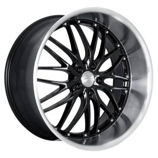20 MRR GT1 Black Rims Wheels Lexus GS300 GS400 IS250 RX8 Mustang GT