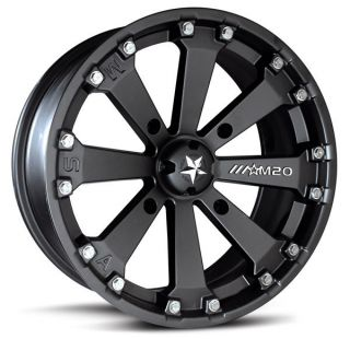 MSA M20 Kore ATV UTV Wheels Rims Black 14 2013 Polaris Ranger XP 900
