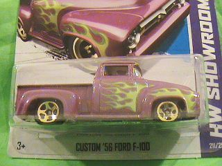 HOT WHEELS CUSTOM 56 FORD F 100 HW SHOWROOM 13 HEAT FLEET FLAME DESIGN