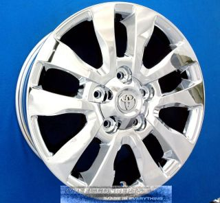 TUNDRA SEQUOIA PLATINUM 20 INCH CHROME WHEEL EXCHANGE OEM 20 RIMS NEW