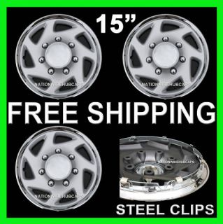Van 15 Wheel Covers Rim Hub Caps for 5 Lug Steel Wheels Rims