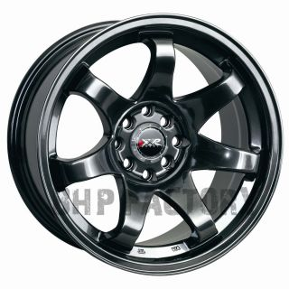 522 16 ET0 4x114 100 Black Chrome Deep Wide Tuner Alloys Wheels Rims