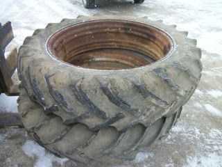 1959 Case 600 Gas Tractor Rear Tires Rims 13 9x36