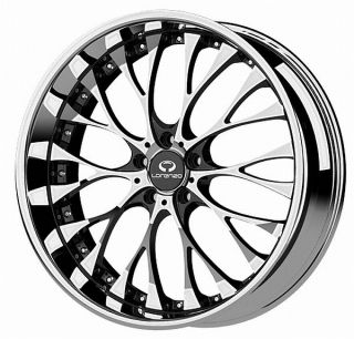 20 inch Lorenzo WL027 Chrome Wheels Rims 5x120 Lexus LS 460 LS HL