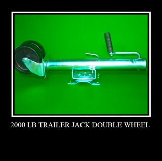 2000 lb Tongue Trailer Jack Swings Away w Two Wheels