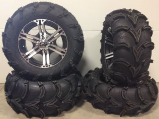 ITP SS212 14 Wheels Machined 27 ITP Mud Lite XL Tires Polaris