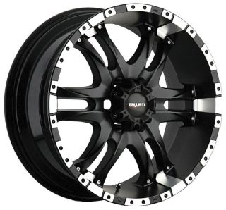 BALLISTIC OFF ROAD WIZARD BLACK TAHOE SUBURBAN ESCALADE H3 WHEELS RIMS