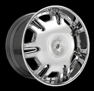 Lexani 24 Radiant Wheels Tires Black Chrome Cadillac Escalade Denalli